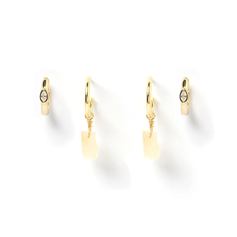 CeCe Earring Stack - Citrine