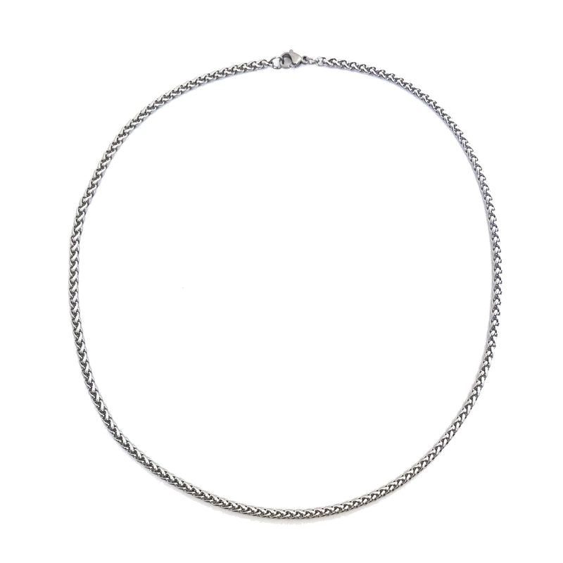 Benz Men's Silver Necklace