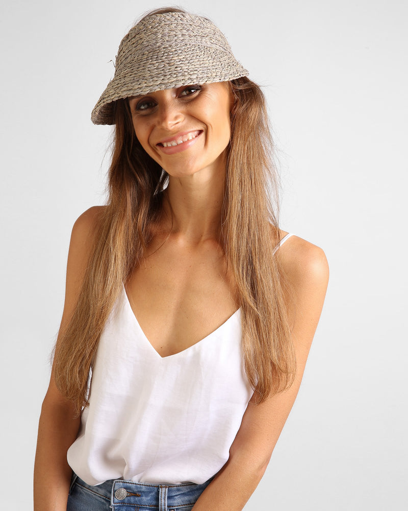 Sunray Roll Up Sun Visor - Grey