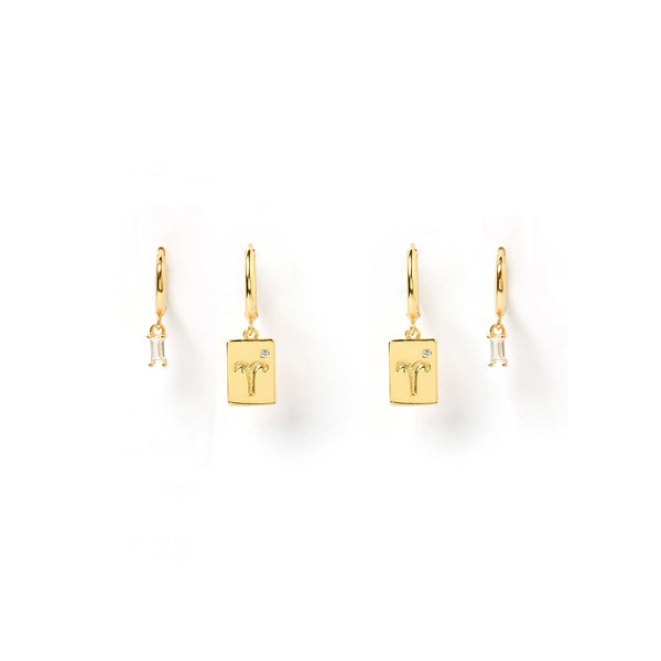 Aries Star Sign Earring Stack