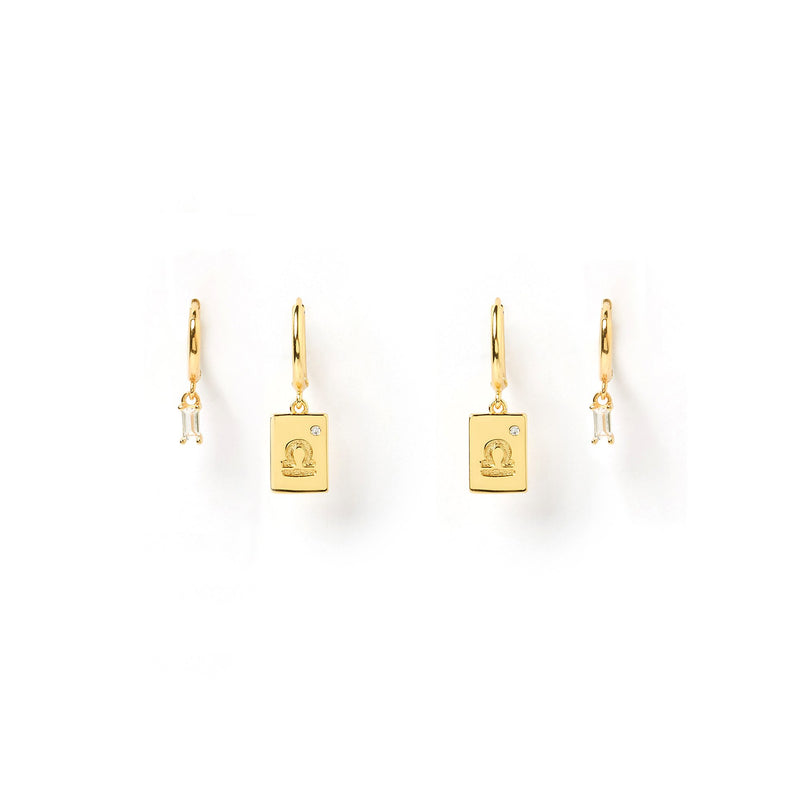 Libra Star Sign Earring Stack