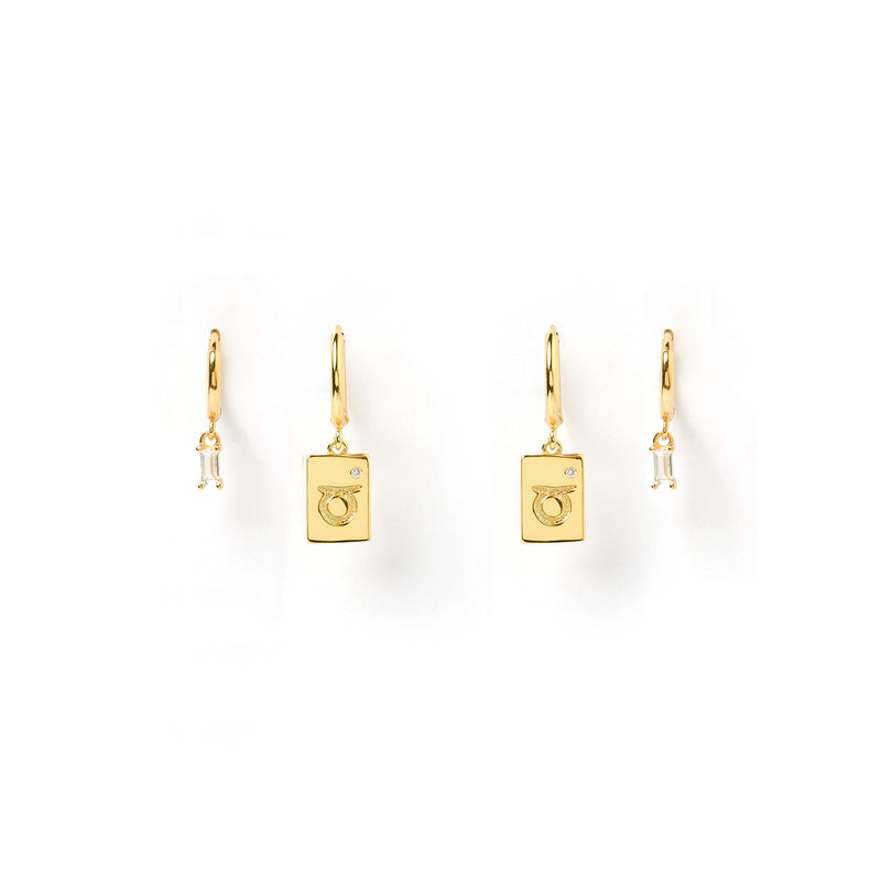 Taurus Star Sign Earring Stack