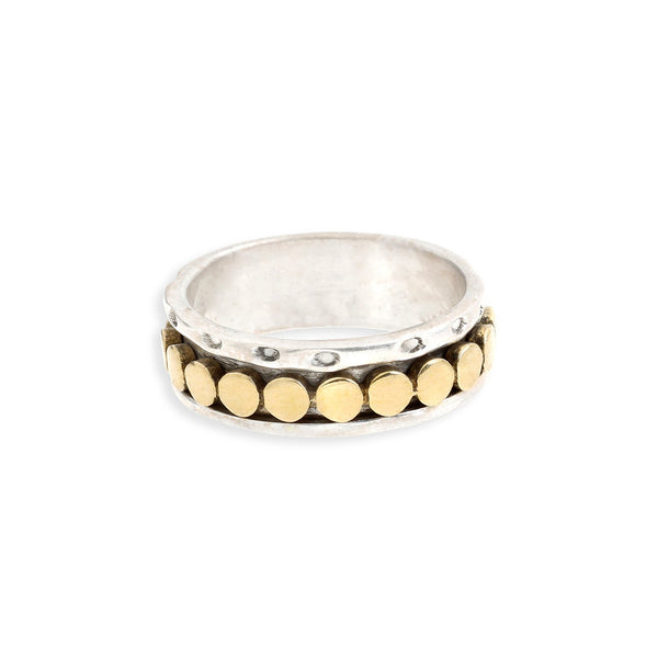 Adella Two-Tone Spinner Ring