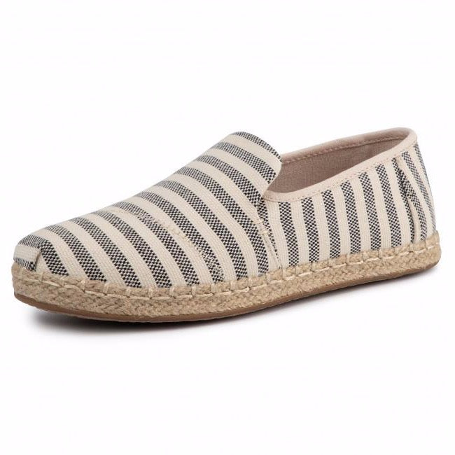 TOMS - Deconstructed Alpargata Rope - Black - Woven Stripe
