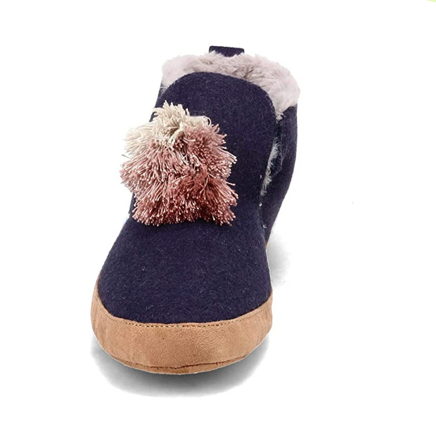 Toms - Nahla Ladies Felt Boot Slippers - Navy