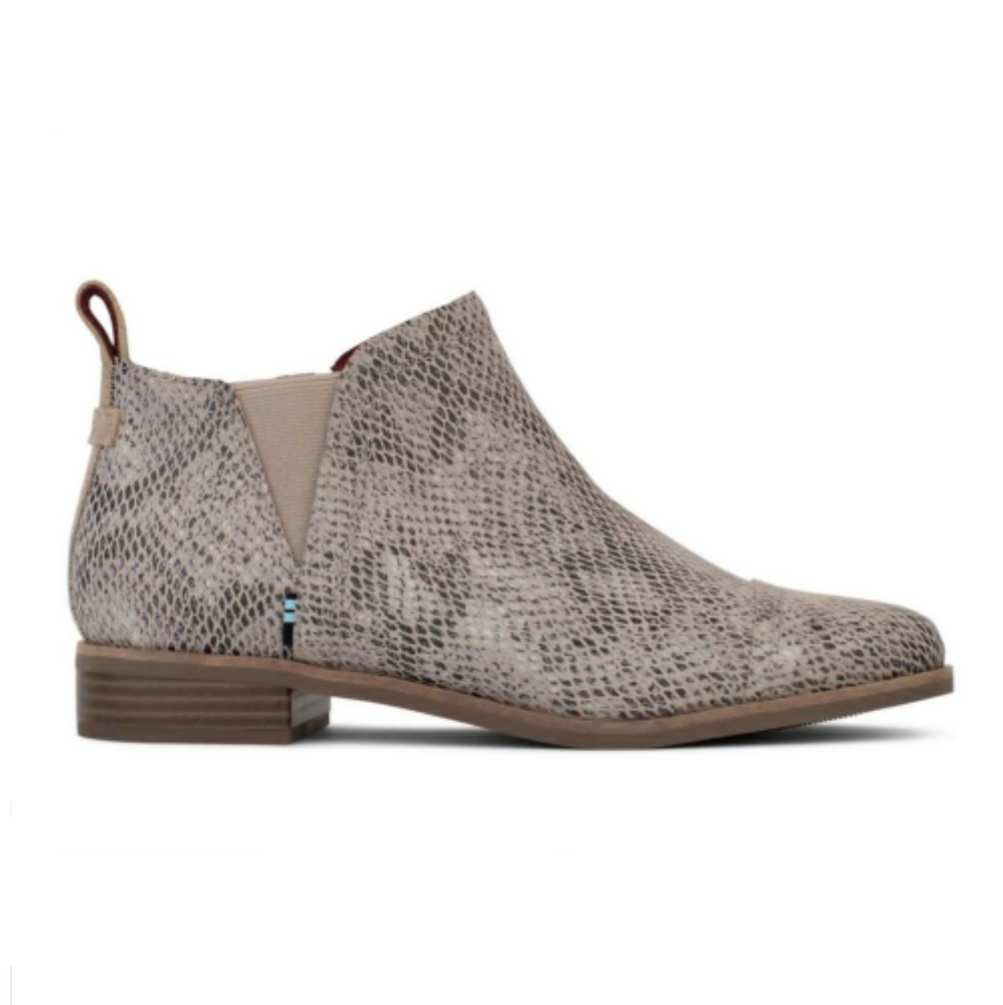 Toms - Womens Fashion Ankle Boots - Cobblestone / Snake