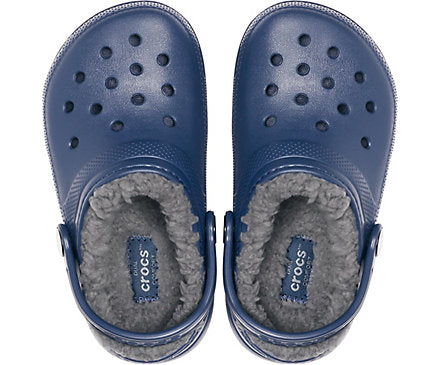 Crocs - Classic Lined Kids Clogs - Navy / Charcoal
