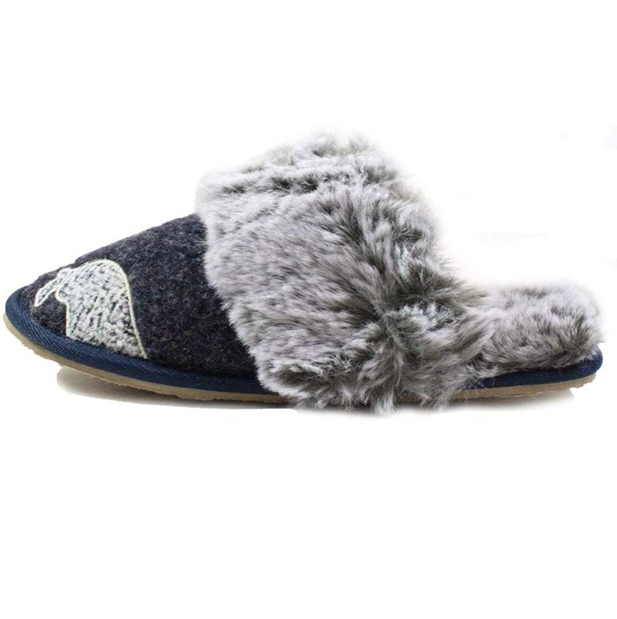 Lazy Dogz - Womens Slippers - Pippin - Navy