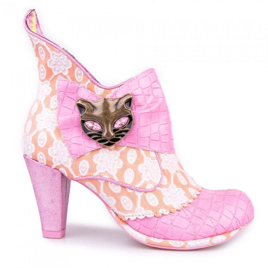 Irregular Choice - Miaow Heeled Boots - Pink