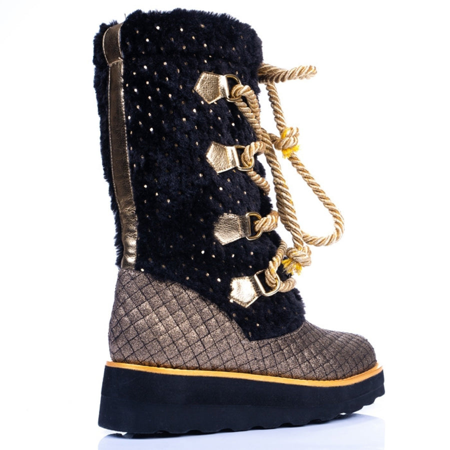 Irregular Choice - Cheese & Beans - Black & Gold