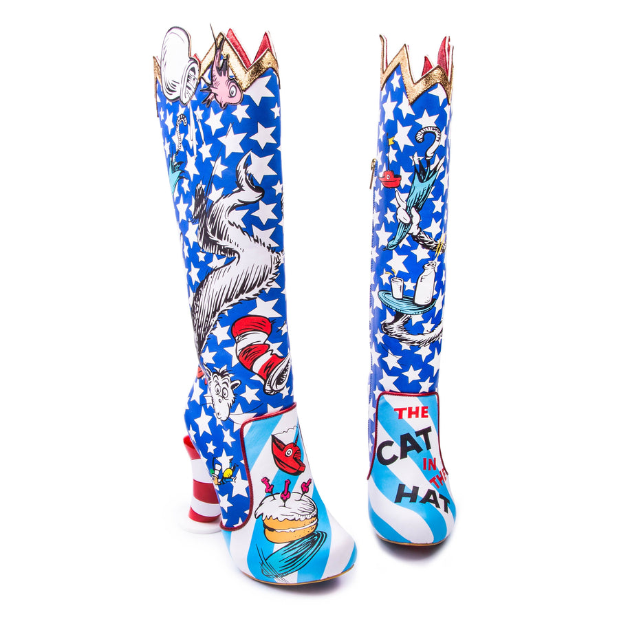 Irregular Choice - The Cat In The Hat - Blue / Red / White