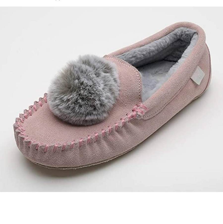Lazy Dogz - Bessie - Moccasin Slippers - Pink