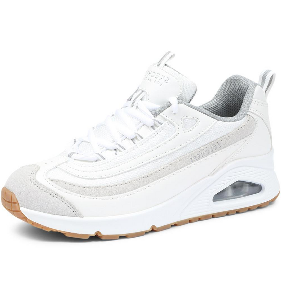 Skechers-Womens-Roundabout-73678-White-Trainers