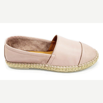 Bueno - Soft Leather Espadrilles - New Skin Pink