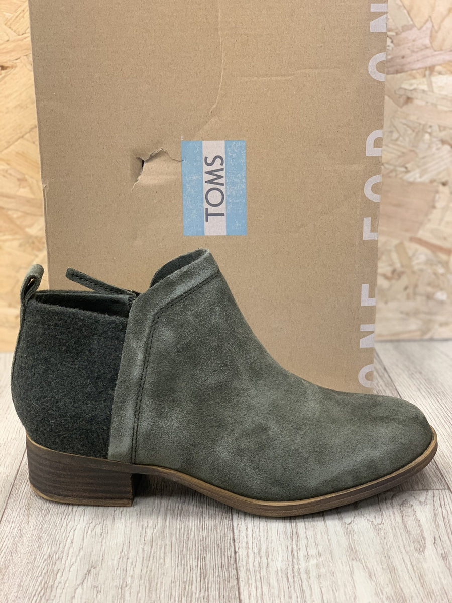 TOMS - DEIA - FOREST - SEUDE LEATHER CHELSEA BOOTS (UK3 LAST SIZE)