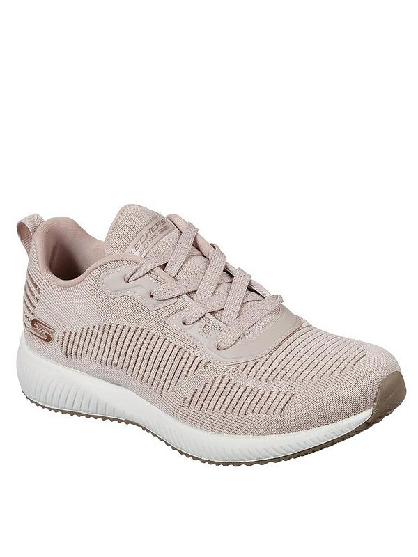 Skechers Women's Bobs Squad-Glam League Trainers - Blush