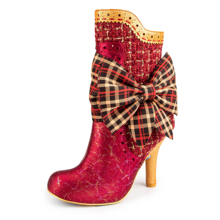 Irregular Choice - Rosie Lea Heeled Boot - Red