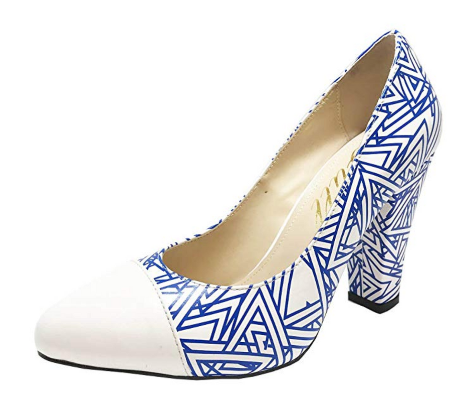 YULL Beaulieu Slushie - Leather Court Shoes -White/Royal Blue