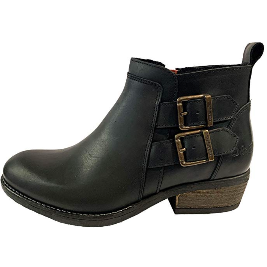 OAK & HYDE - RITA TWIN - BLACK LEATHER CHELSEA BOOTS