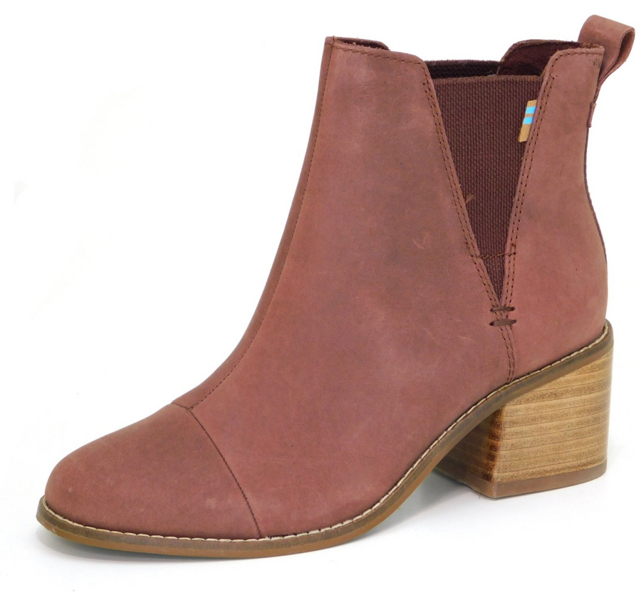 Toms - Esme - Burnt Henna - Leather Chelsea Boots