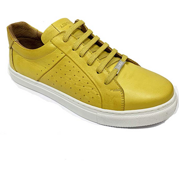 Carmela - Yellow Soft Leather Trainer