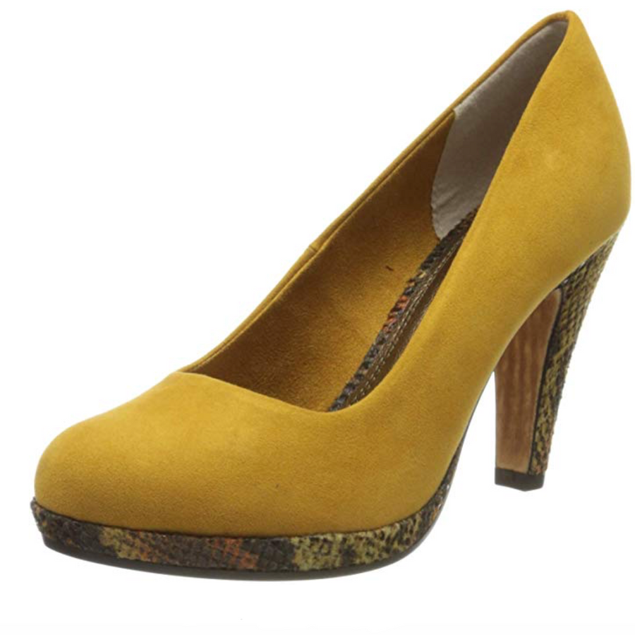 Marco Tozzi - Saffron Snake - Court Shoe - Yellow