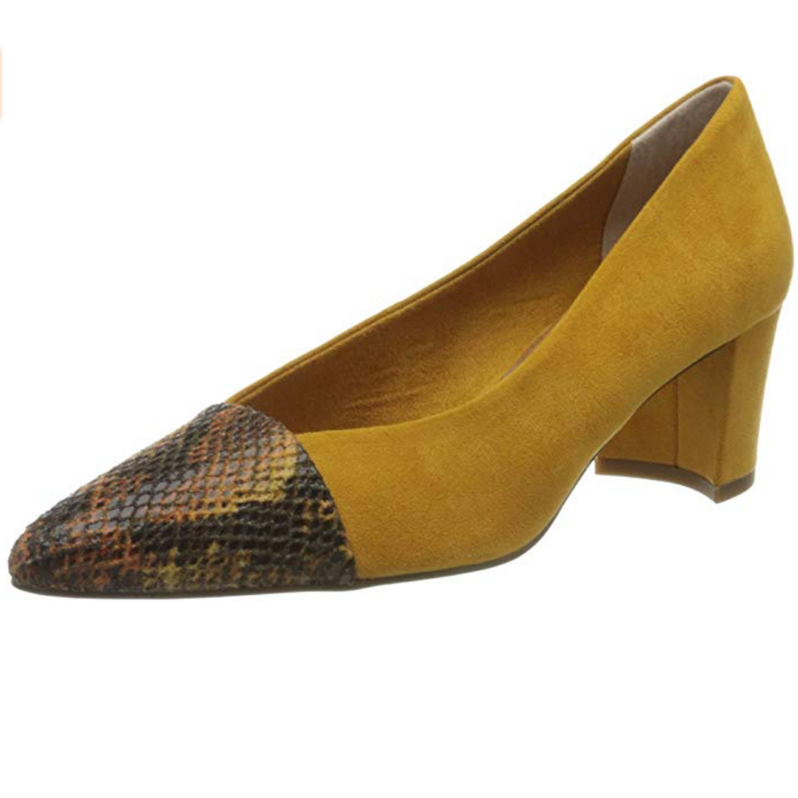 Marco Tozzi - Closed Toe Heel - Yellow