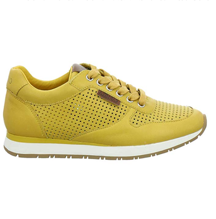 Carmela - 67270 - Mustard Leather Trainers