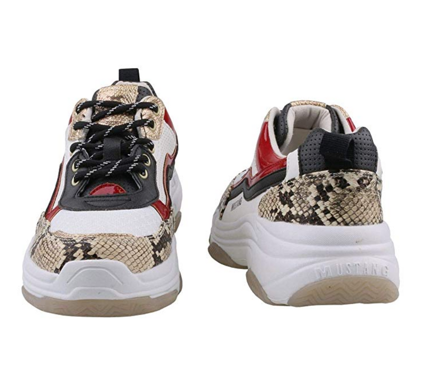 MUSTANG - WHITE/MULTI - CHUNKY TRAINERS
