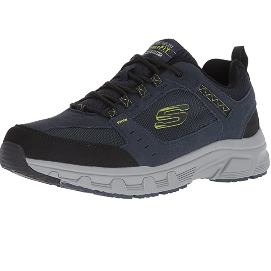 Skechers - Mens Oak Canyon Sneakers - Navy / Lime