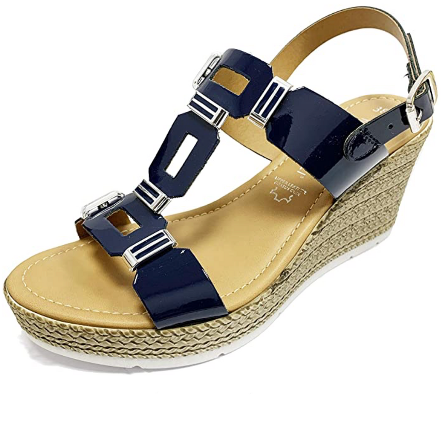 Marco Tozzi - Womens Ankle Strap Sandals - Navy