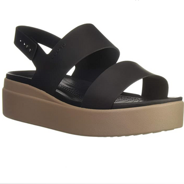 Crocs - Women's Brooklyn Low Wedge - Black/Mushroom