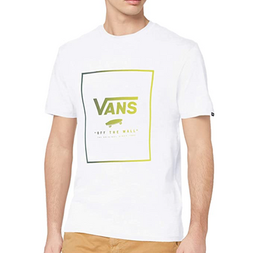 Vans - Mens Print Box T Shirt - White / Yellow