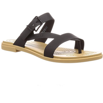 Crocs - Tulum Toe Post Sandal - Black / Tan