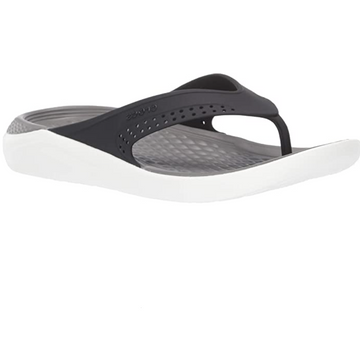 Crocs - Unisex Adults Literide Flip Flops - Black / Smoke