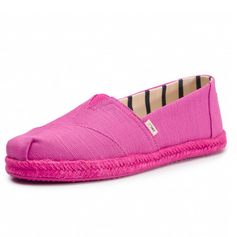 TOMS - WOMENS - CLASSIC ROSE VIOLET HERITAGE ON ROPE SOLE - ESPADRILLES