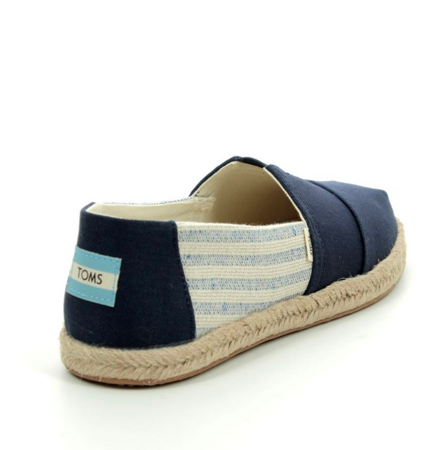 TOMS -WOMENS CLASSIC - NAVY IVY LEAGUE - STRIPES