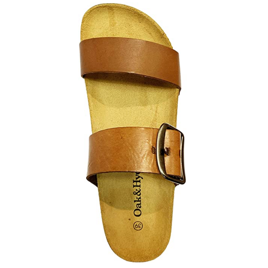 Oak & Hyde - Alicante Mid - Vintage Caramel Leather Sandal