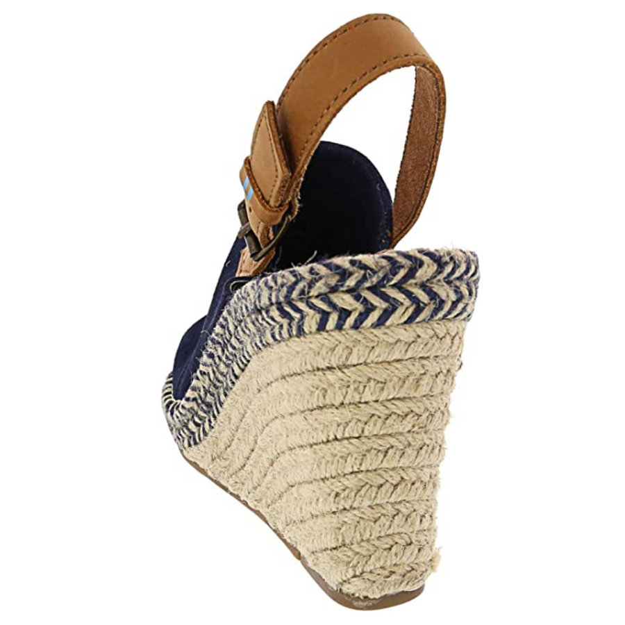 TOMS - Women's Monica Sandal - Navy Suede / Leather