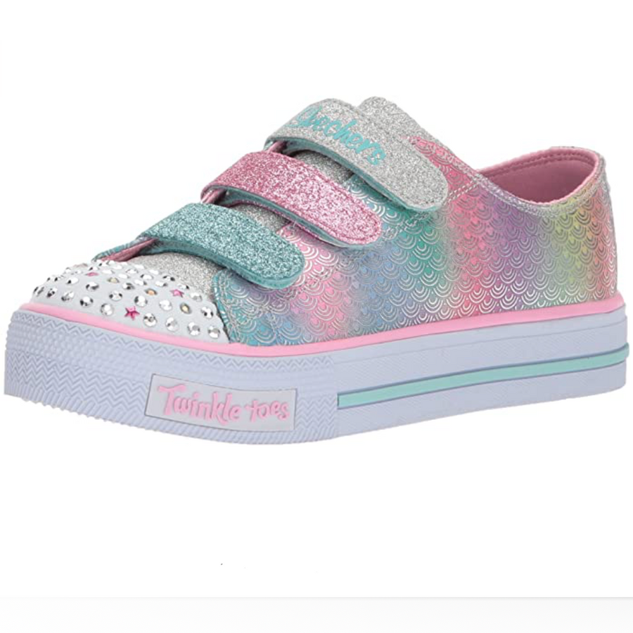 Sketchers-Girls-Shuffle-Mermaid-Multicolour-Trainers