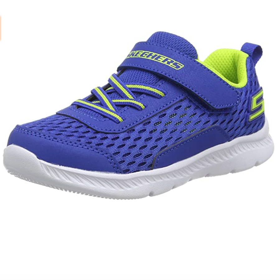 Skechers - Boy's Comfy Flex 2.0 Trainers - Blue / Lime