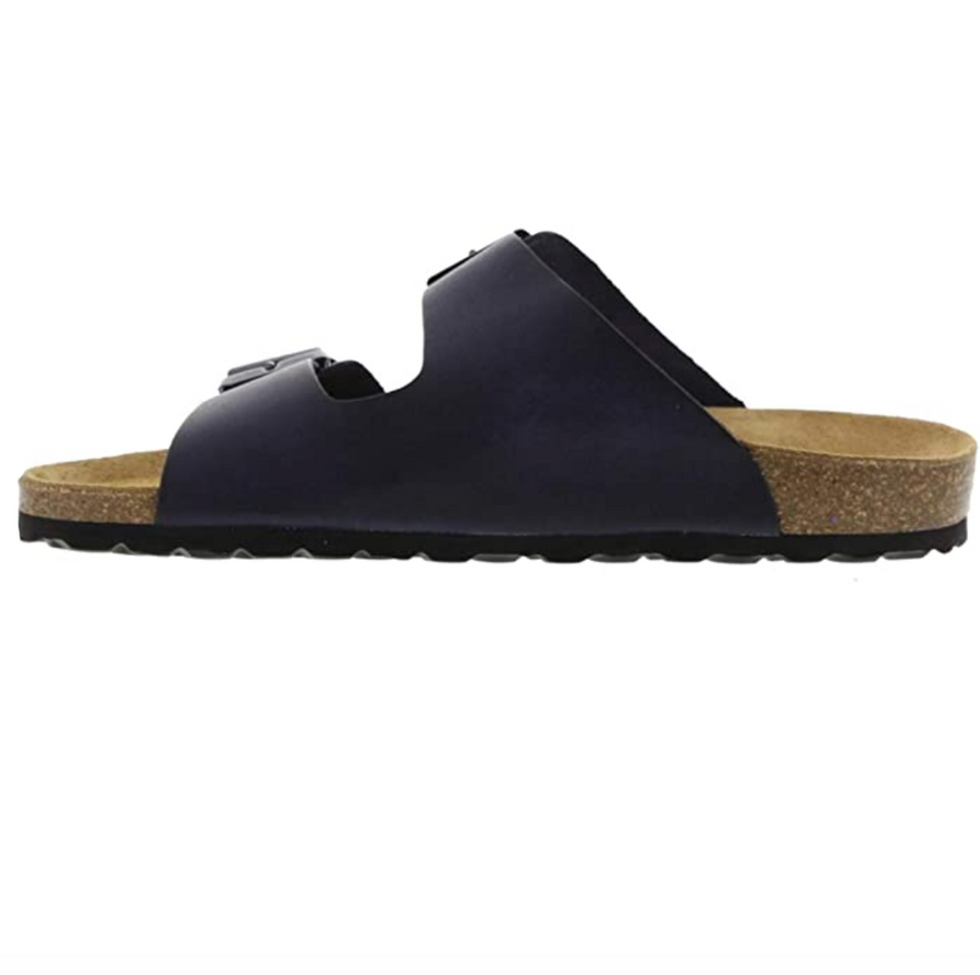 Oak & Hyde - Vintage Navy Leather Sandals