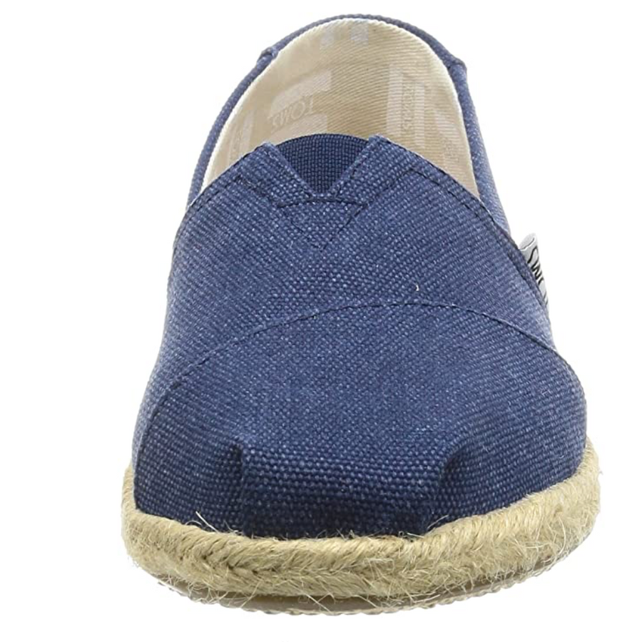 TOMS - Classic - Navy Washed Canvas Rope Sole