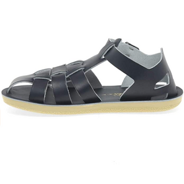 Salt Water Sandal - Leather Kids Shark - Navy