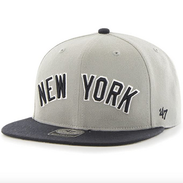 '47 Brand - MLB New York Yankees - Adjustable Grey / Black Cap