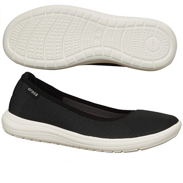 Crocs - Reviva Flat Sandals Women - Black / White