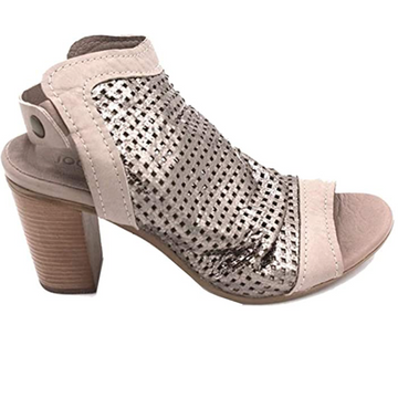 Bueno - Old Gun - Grey Leather Peep Toe - High Heel