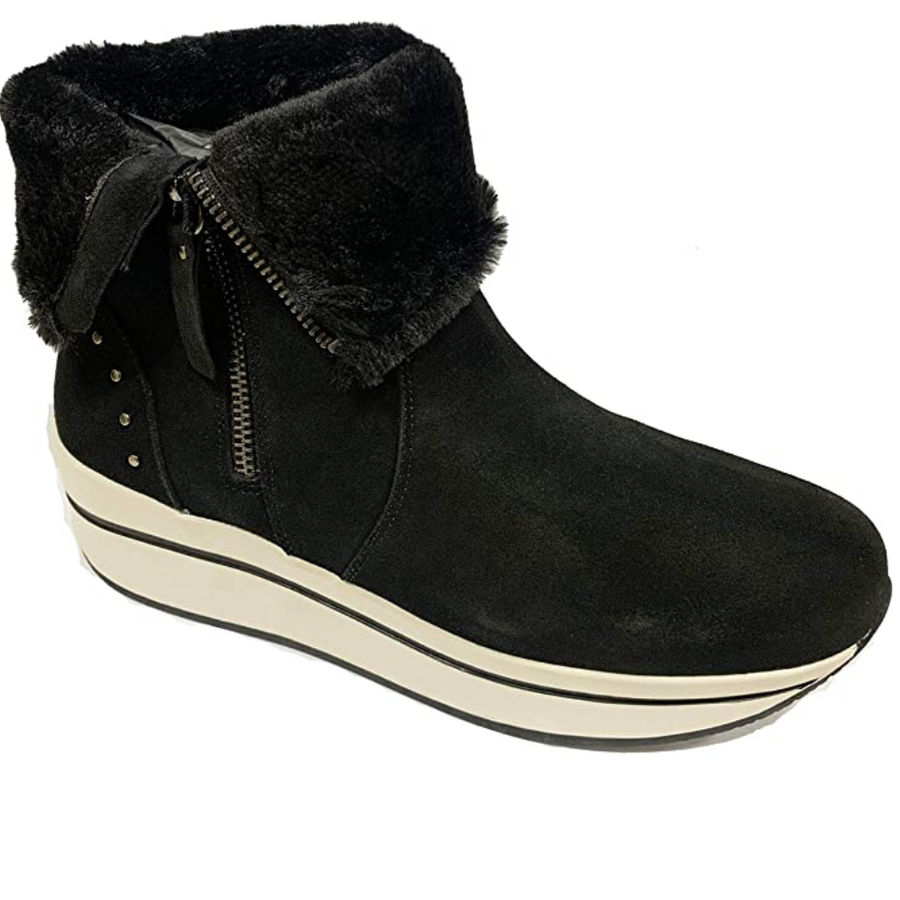 Carmela - 67421 - Black Suede Leather - Snow Boot