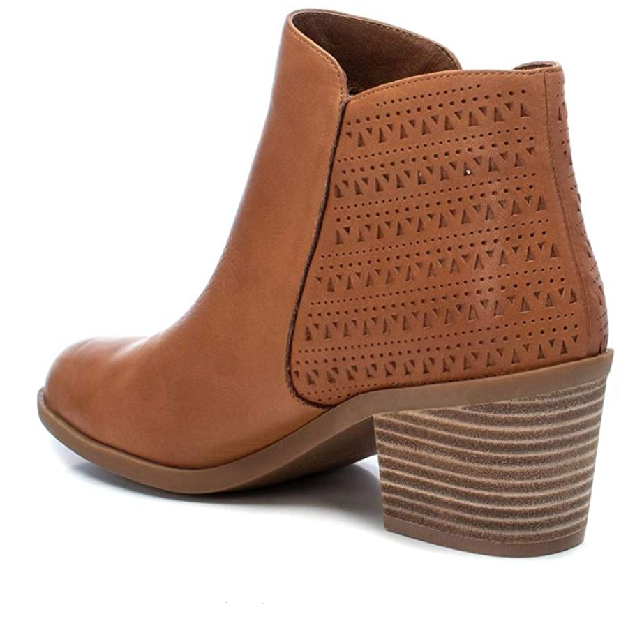Carmela - Leather Ankle Boots - Camel