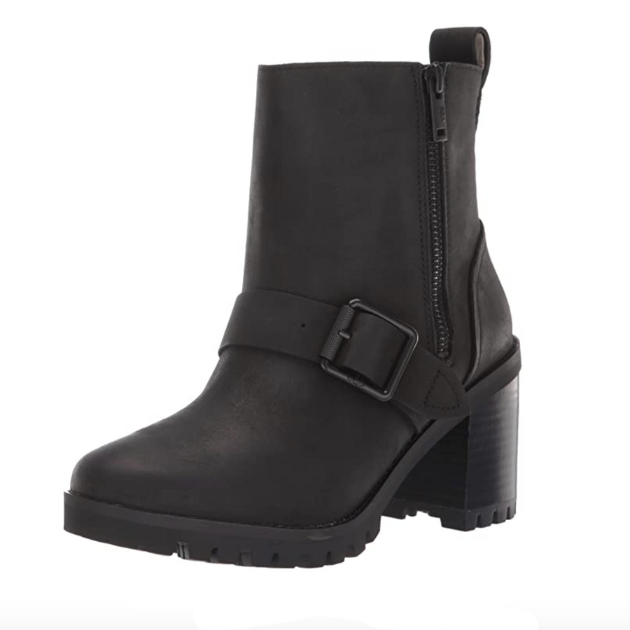 UGG - Fern Boot - Black Leather Women's Boots